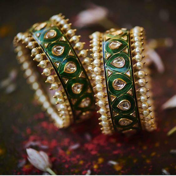 bridal jadau bangles for 2021 weddings