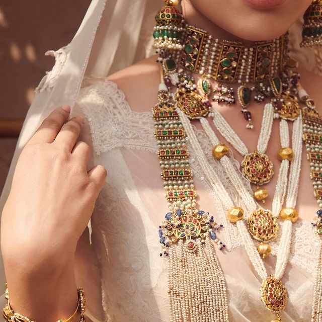 Meenakari indian bridal jewelry set