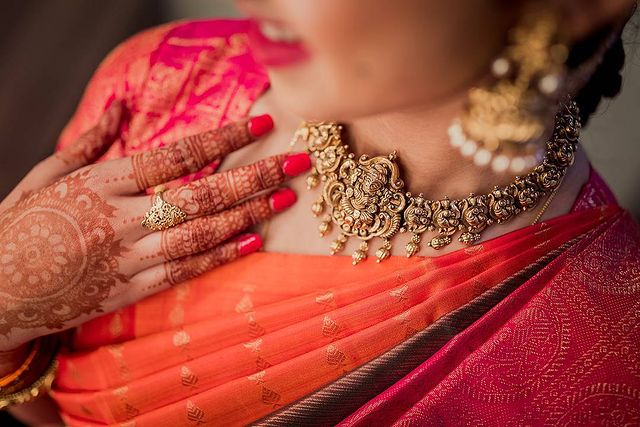 temple jewellery set for brides