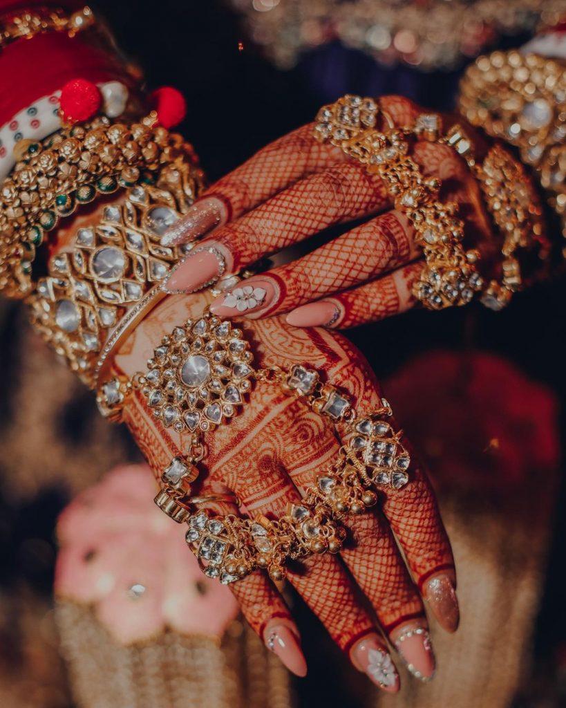 bridal nail art designs